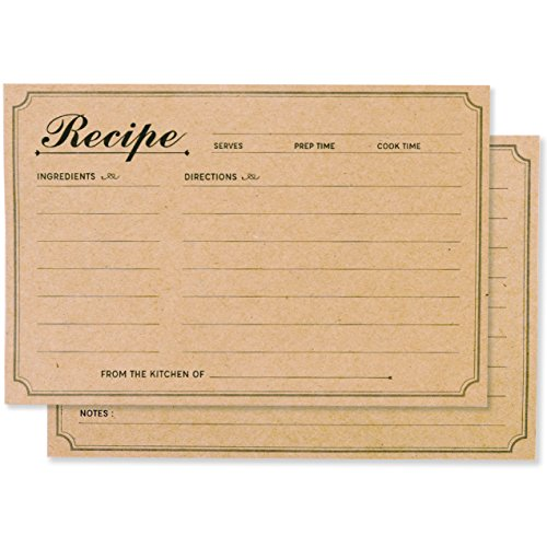 Recipe Cards 4x6