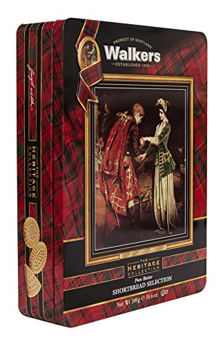 Walkers Shortbread Assorted Flora MacDonald Tin, 10.6-Ounce