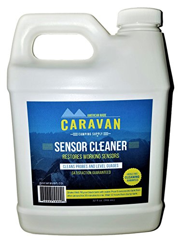 Caravan overnight RV Sensor and Tank CLEANER - fix sensors, clear toilet and tank clogs, eco-friendly, probiotic bacteria enzyme formula, RV, marine, black, gray, microbial-based plumbing solution