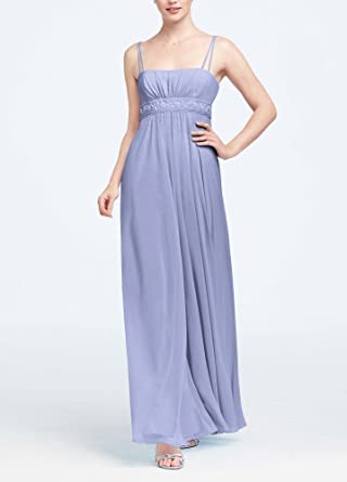 2d264907d6a83 Spaghetti Strap Chiffon Bridesmaid Dress with Beaded Empire Style F12495 at  Amazon Women's Clothing store: