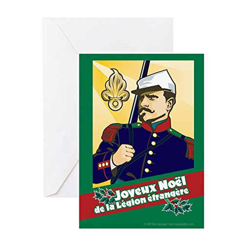 CafePress - Legionnaire Xmas Card - Greeting Card, Note Card, Birthday Card, Blank Inside (Legion Glossy Paper)