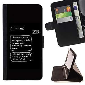 BullDog Case - FOR/Samsung Galaxy S3 III I9300 / - / deserve love funny quote self worth you /- Monedero de cuero de la PU Llevar cubierta de la caja con el ID Credit Card Slots Flip funda de cuer