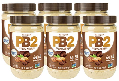 Bell Plantation PB2 Chocolate Peanut Butter, 1 lb Jar (Pack of 6)