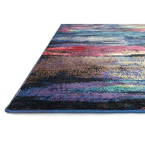 Loloi Rugs Madeline Collection Contemporary Area Rug, 5-Feet 2-Inch by 7-Feet 7-Inch, Peacock