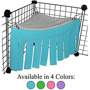 Corner Fleece Forest Hideout for Guinea Pigs, Ferrets, Chinchillas, Hedgehogs, Dwarf Rabbits and Other Small Pets - Accessories and Toys 17