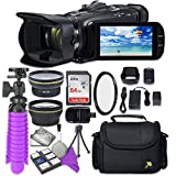 Canon VIXIA HF G40 Full HD Camcorder with Sandisk 64 GB SD Memory Card + 2.2x Telephoto Lens + 0.42x Wideangle Lens + Accessory Bundle