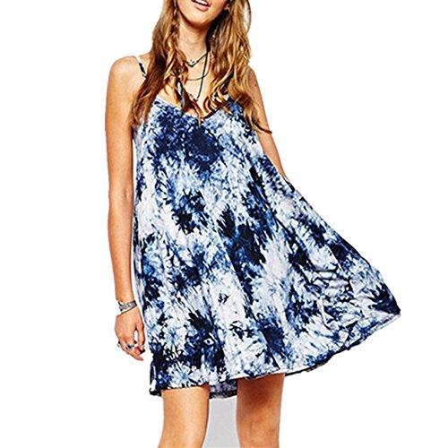 Generic Damen Neckholder Kleid blau blau