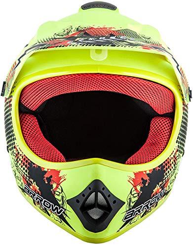naranja de motocross con bolsa 51 a 60/cm Juego de casco Limited Orange certificado DOT cierre Click-n-Secure tallas XS a XL AKC-49 de Armor para ni/ños