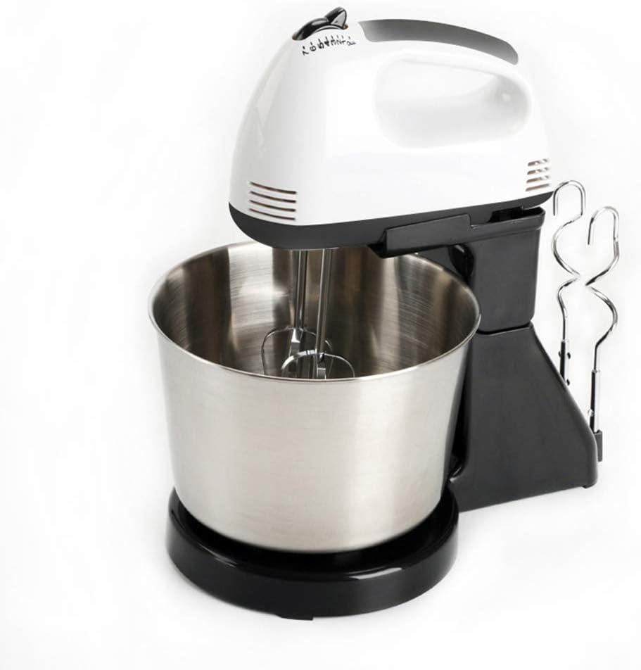 Alimentación eléctrica 1500W mesa mezcladora y soporte de la torta de masa Batidora de huevo batidor Bicarbonato de crema de leche Máquina 7 Velocidad Incluir batidores y ganchos para masa,Negro: Amazon.es: Deportes