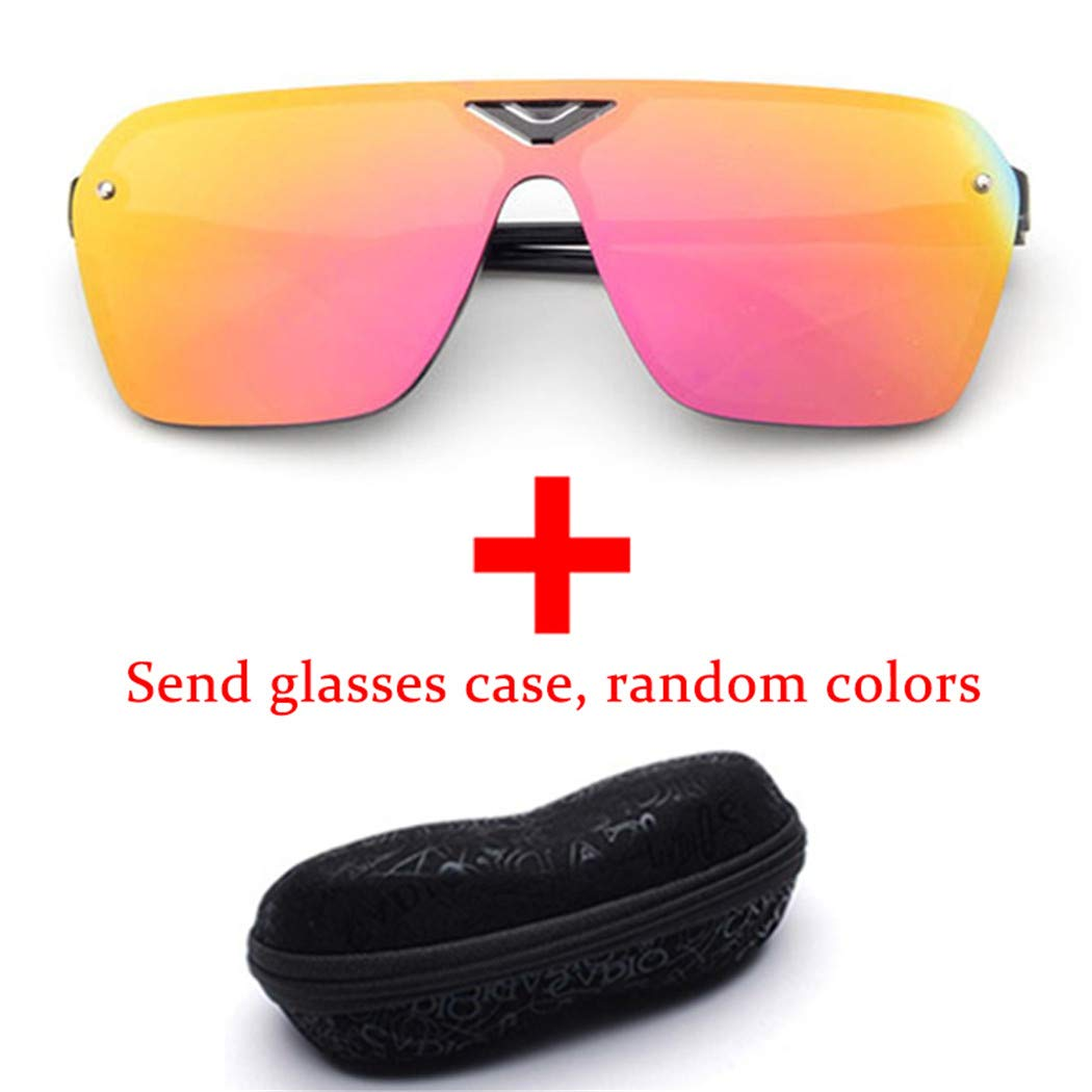 Sunglasses Fashion Sunglasses Retro Sunglasses Men and Women Glasses Red mercury