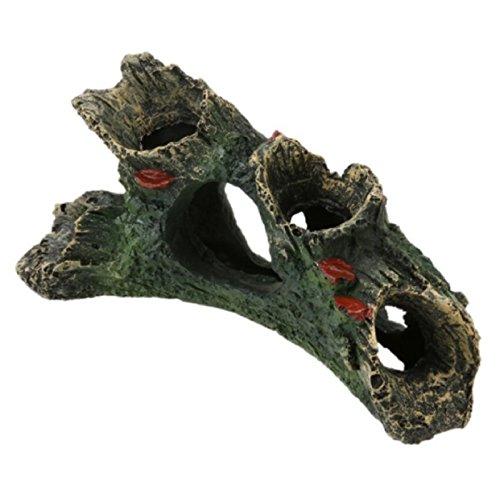 (Resin Aquarium Decoration Artificial Driftwood Fish Tank Resin Ornament Landscaping Decoration (B, Approx. 12 x 7 x 11cm/4.72 x 2.75 x 4.33'))