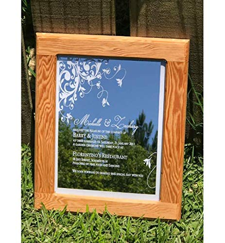 - Engraved invitation on glass, Engraved Mirror, Wedding gift, Graduation gift, unique gift, Anniversary Gift