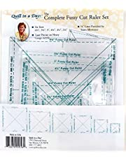 The Complete Fussy Cut Ruler Set by Quilt in a Day 6pc