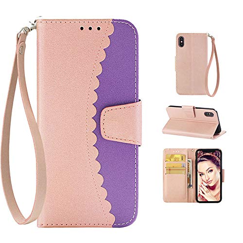 iPhone 8 Plus Case for Women, Cute iPhone 8 Plus Case Wallet Cover,iPhone 7 Plus Case with Card Holder Kickstand Strap,Soft Silicone Bumpers iPhone 6S 6 Plus Case for iPhone 8 7 6S 6 Plus 5.5