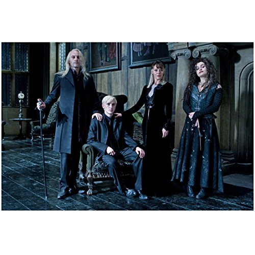 Harry Potter Jason Isaacs, Tom Felton, Helen McCrory, and Helena Bonham-Carter 8 x 10 Inch Photo