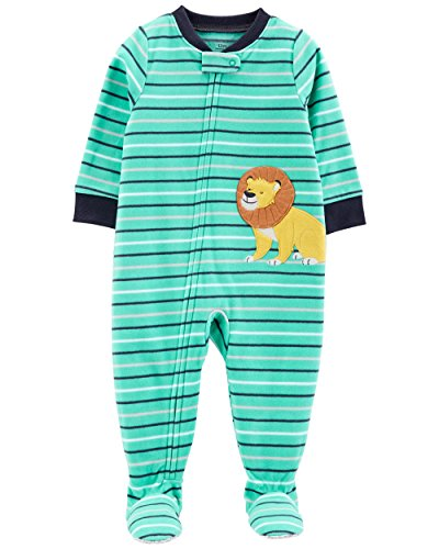 Carter's Baby Boy's 12M-5T One Piece Fleece Pajamas, Lion, 12 Months