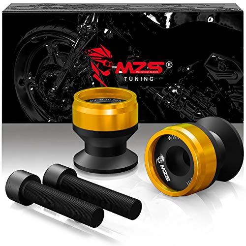 - MZS 8MM Swingarm Spools Sliders Stand CNC Universal M8 compatible Honda CBR 600 F2 F3 F4i CBR600RR CBR1000RR/ Suzuki GSXR600 GSXR750 GSXR1000/ Kawasaki ZX6R ZX10R Z900 Z1000/ KTM/Ducati/Triumph Gold