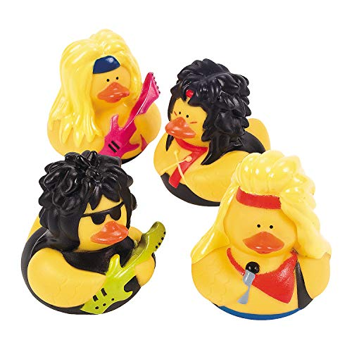 Fun Express - Big Hair Rubber Duckies - Toys - Character Toys - Rubber Duckies - 12 ()