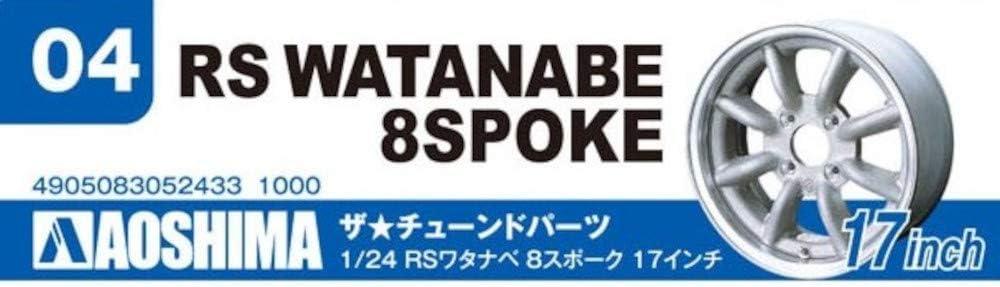 Plastic Model Buiding Set # 52433 Aoshima 1//24 Scale Rs Watanabe 8Spoke 17 Inch Wheel Set