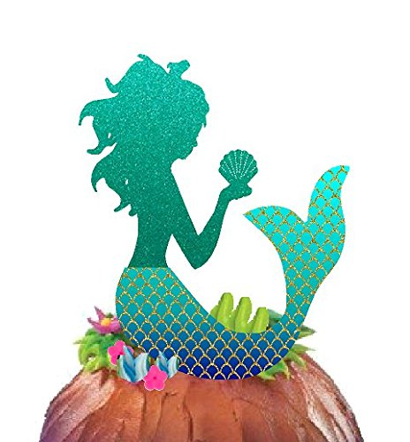 Cake/Food/Cupcake/Appetizer/Desert Decorating Topper Decorations (Mermaid Cake Topper)