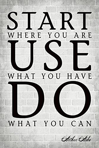 Start Where You Are Arthur Ashe Quote Motivational Poster Amazon