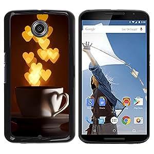 iKiki Tech / Estuche rígido - I Love Hearts Cup Gold Lights - Motorola NEXUS 6 / X / Moto X Pro