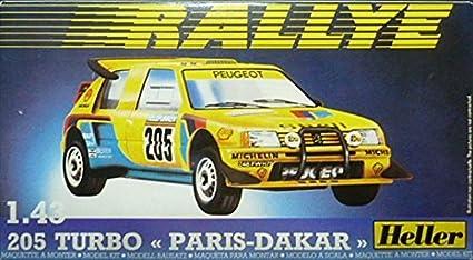 Heller 1/43 Peugeot 205 turbo Paris Dakar