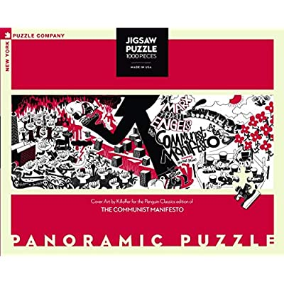 New York Puzzle Company - Penguin Random House Communist Manifesto - 1000 Piece Jigsaw Puzzle: Toys & Games