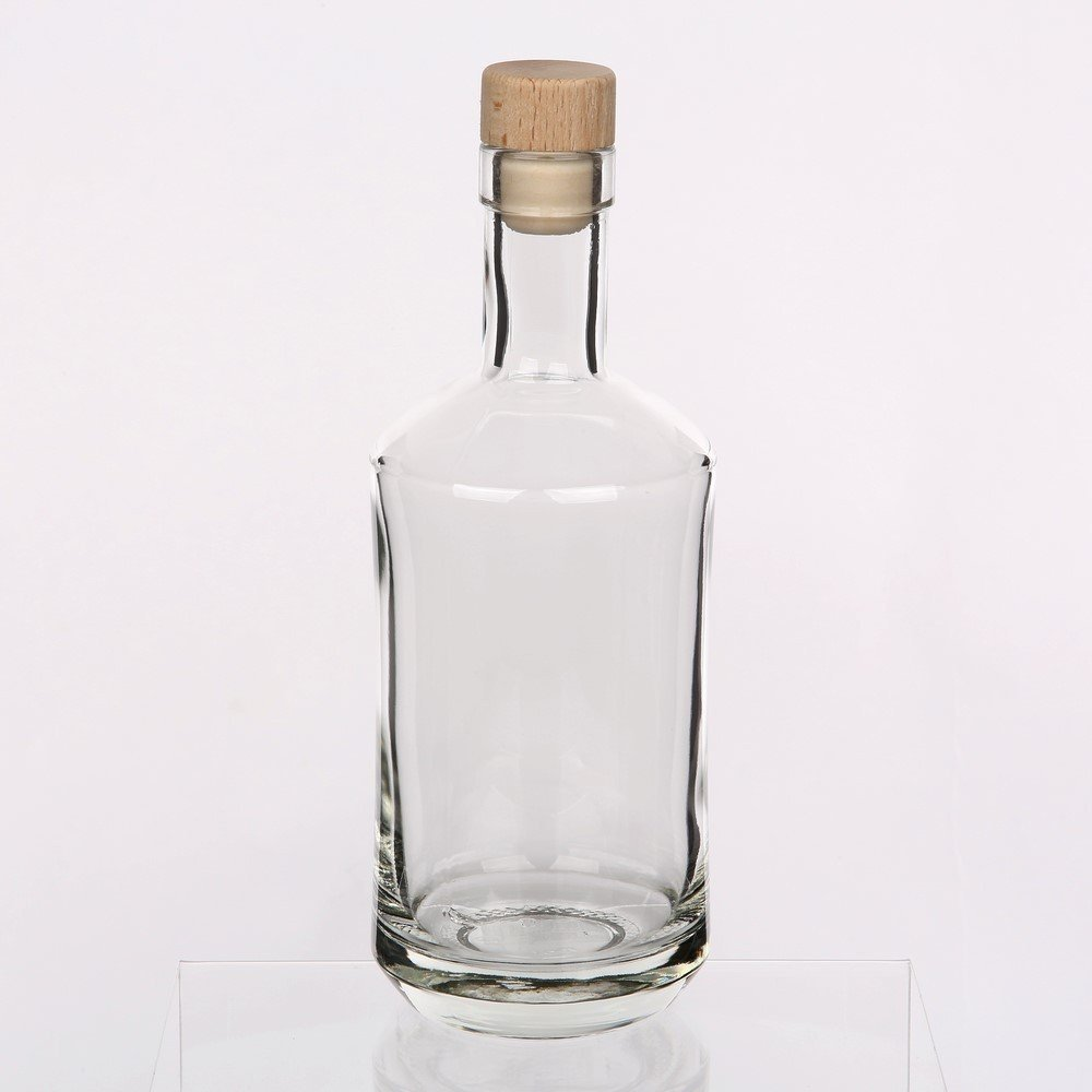 Air Tight Top Picnic Bottle | Cordial water Juice | 750ml | Wooden Cork Solavia