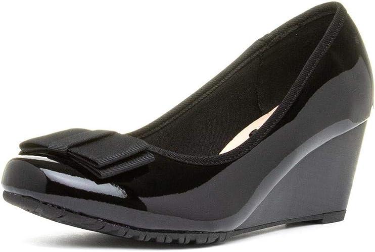 Comfort Plus Arvada Womens Black Wedge