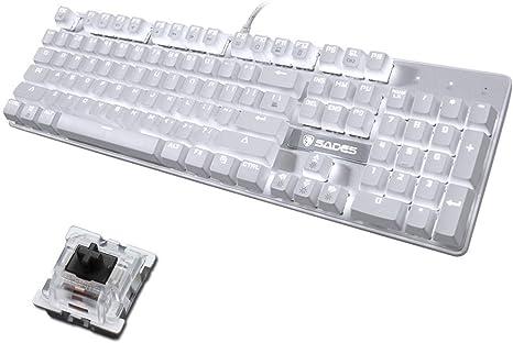 OFNMD Mechanical Gaming Keyboard, Black Switch Teclas ...