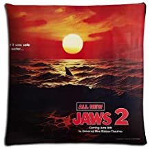 18x18 inch 45x45 cm throw pillow cases Cotton / Polyester Custom perfect Jaws 2
