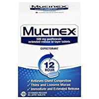 100ct Mucinex 12 Hour Chest Congestion Expectorant Tablets Deals