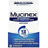 Mucinex 12 Hour Chest Congestion Expectorant, Tablets, 100ct, 600 mg Guaifenesin with Extended Relief