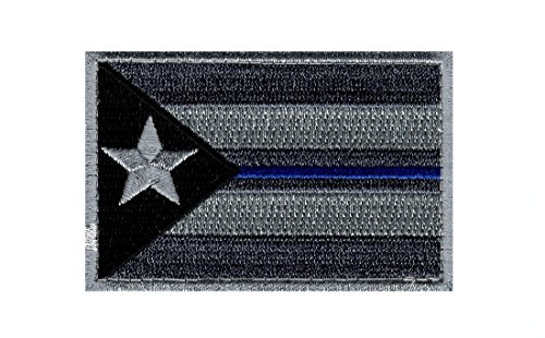 Puerto Rico Flag Police Thin Blue Line SWAT Morale ACU Hook Patch (Swat Police Patch)