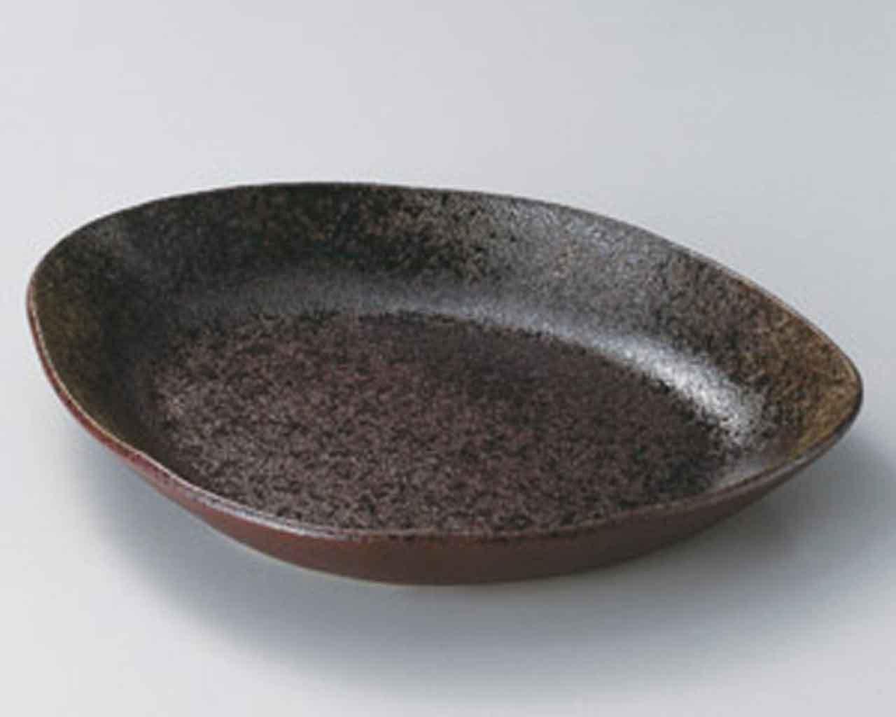 小豆釉 31.5cm パスタ皿10点セット 茶 陶器   B010FO0Y6A