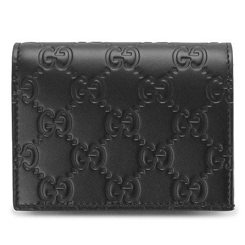 (グッチ) GUCCI カードケース 410120 CWC1G 1000 名刺入れ グッチシマ GG柄 型押しレザー ブラック [並行輸入品] B01N1UXKR9