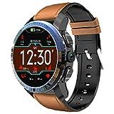 Hot Sale! NDGDA,Men Smartwatch 800mAh Battery Dual Systems 4G IP67 Waterproof 2GB+16GB / 3GB+32GB 8.0MP 1.39'' Android 7.1.1 MTK6739 Fitness Tracker (BROWN, PRO 3GB+32GB)