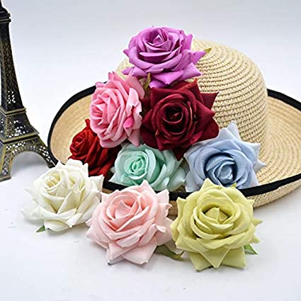 Amazon Com Hatabo Handicraft Flower Handwork 3pcs Artificial Silk