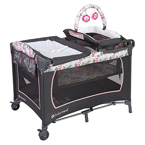 Baby Trend Lil Snooze Deluxe Nursery Center, Flora (Child Of Mine Crib And Changing Table Combo)