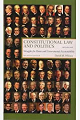 Constitutional Law and Politics: Struggles for Power and Governmental Accountability, Vol. 1 Paperback