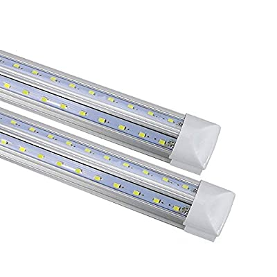 T8 led integrated tube 3FT 35-inch 20W144pc One-piece (with bracket) V-type double row LED 3000K Color temperature 2500 lumens 50,000 hours LED lamp transparent cover Warranty 3 years