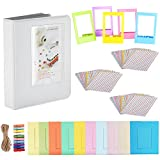 Neewer 19-in-1 Frames and Stickers Accessory Kit for Fujifilm Instax Mini 9 8 8+ 7s 7 70  25 90 50s, Includes: Book Album, Film Table Frames, Colorful Hanging Frames, Instant Films Stickers