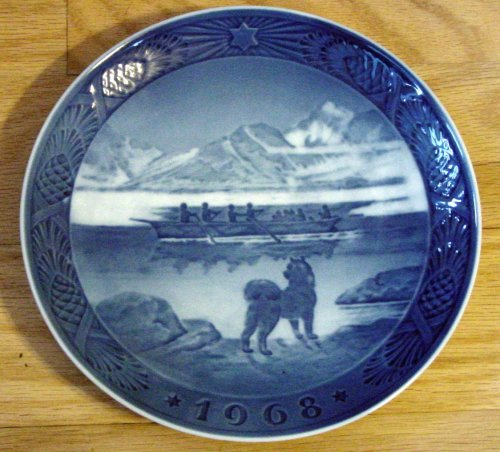 (Royal Copenhagen Christmas Plate 1968)