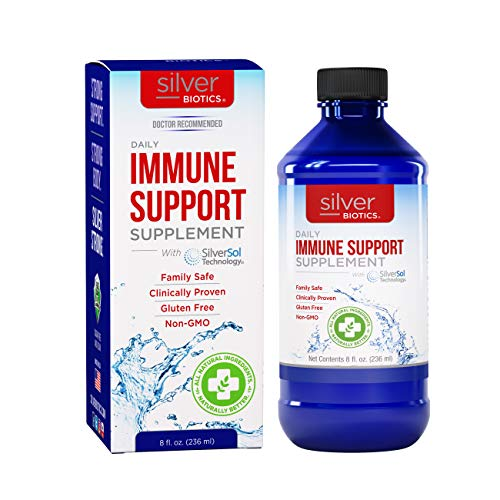 American Biotech Labs – Silver Biotics – Daily Immune Support Supplement with SilverSol Technology – 8 fl. oz.