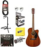 Fender CD-60SCE all Mahogany A/E Dreadnought Guitar w/Effin Strings & More