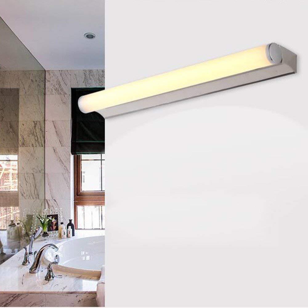 Edelstahl LED-Spiegel Vordere Scheinwerfer, einfache und moderne Badezimmer Spiegelschrank Licht Licht Schlafzimmer Wand Lampe Make-up-Lampe (Farbe  warmes Licht, Größe  53 cm-7W)