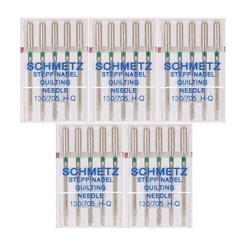 Schmetz Quilting Sewing Machine Needles 130/705H H-Q Size 90/14, (pack of 5) (Sewing Machine Needles Pfaff)