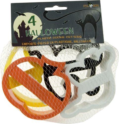 Fox Run 2092 4 Piece Halloween Cookie Cutter Set, 4