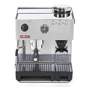 Lelit Anita PL042EMI Macchina Semiprofessionale con Macinacaffè Incorporato Ideale per caffè Espresso, Cappuccino, Cialde Carta-Carrozzeria in Acciaio Inox, 1200 W, 2 Cups, Inossidabile, Grigio